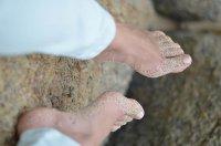 Stopy na plaży